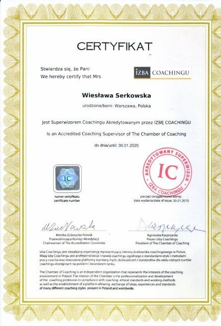 wieslawaserkowska_superwizor_coachingu_certyfikat
